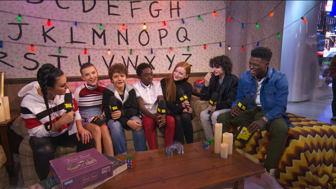 Gaten Matarazzo, Caleb McLaughlin, Finn Wolfhard, and Sadie Sink ...