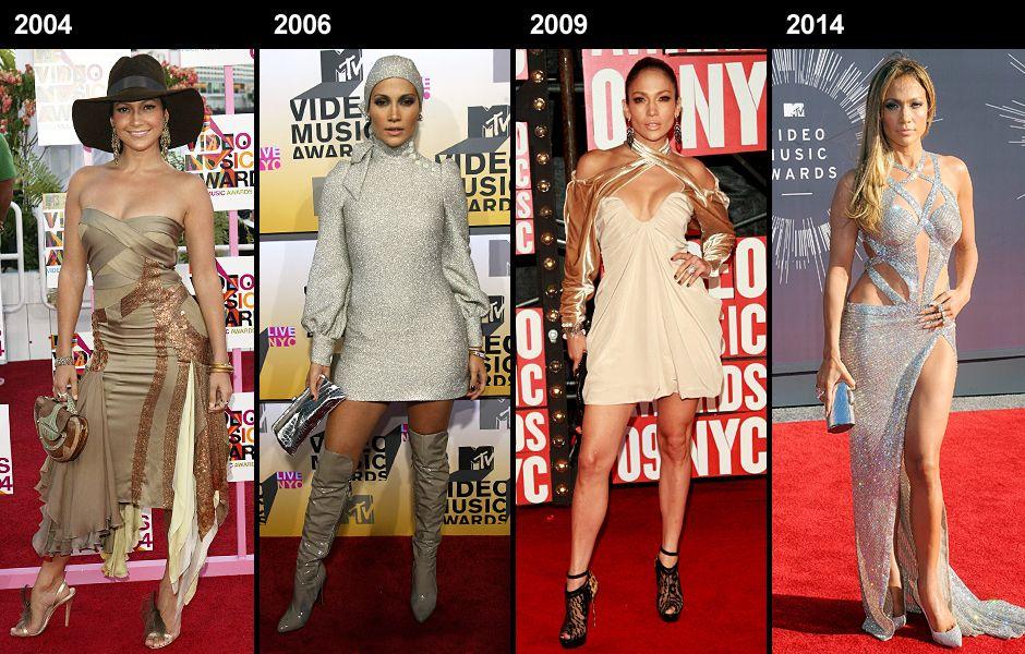 Celeb Style Through The Years Photo Gallery Vma 2018 Mtv