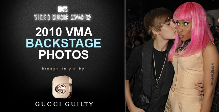 justin bieber vmas 2010. VMA 2010: Backstage Moments