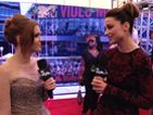 Crystal Reed On The VMA Red Carpet Report