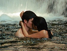 "Robert Pattinson and Kristen Stewart in ""Breaking Dawn - Part 1"""