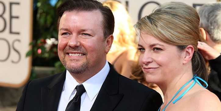 ricky gervais jane. Ricky Gervais and Jane Fallon