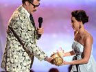 Aubrey Plaza Stage-Bombs Will Ferrell At The 2013...