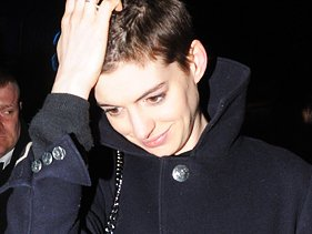 Anne Hathaway leaving the Box nightclub in London on April 8