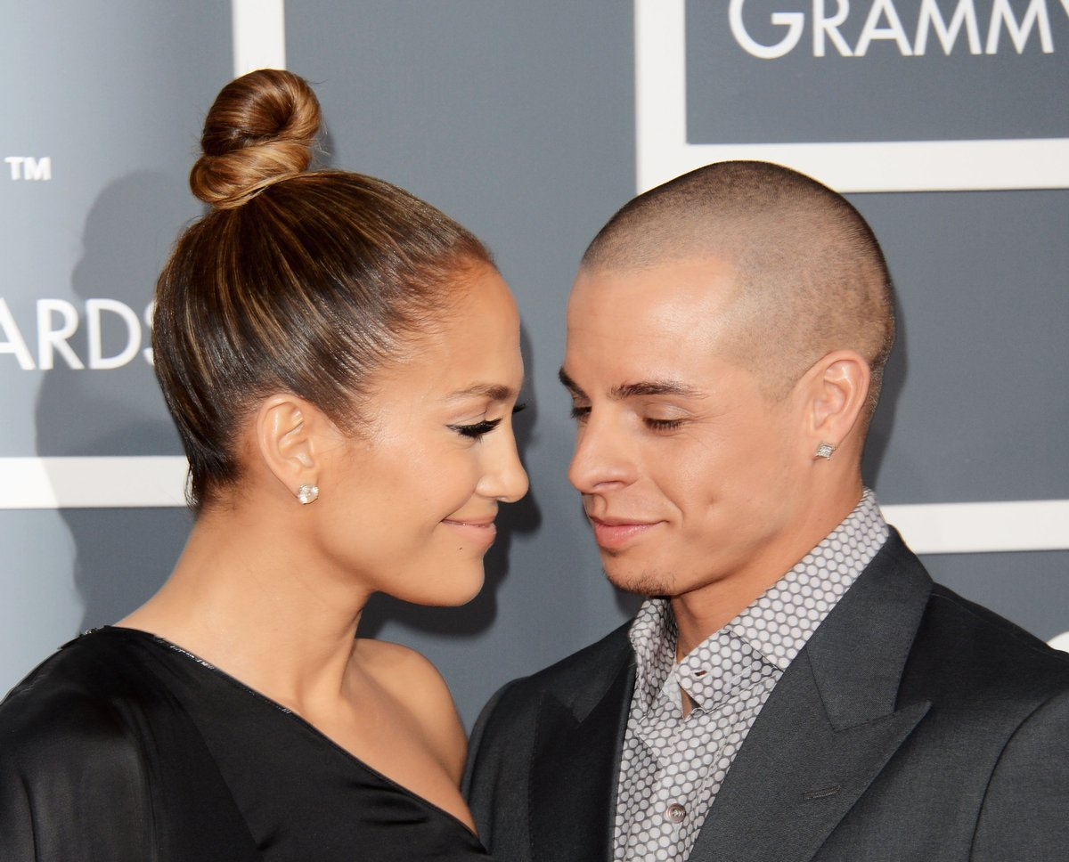 Caseper Smart/ Jennifer Lopez at Grammys