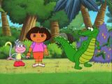 Dora y el cocodrilo