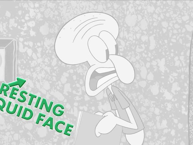 Resting Squid Face