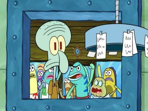 SpongeBob Customers are Waiting