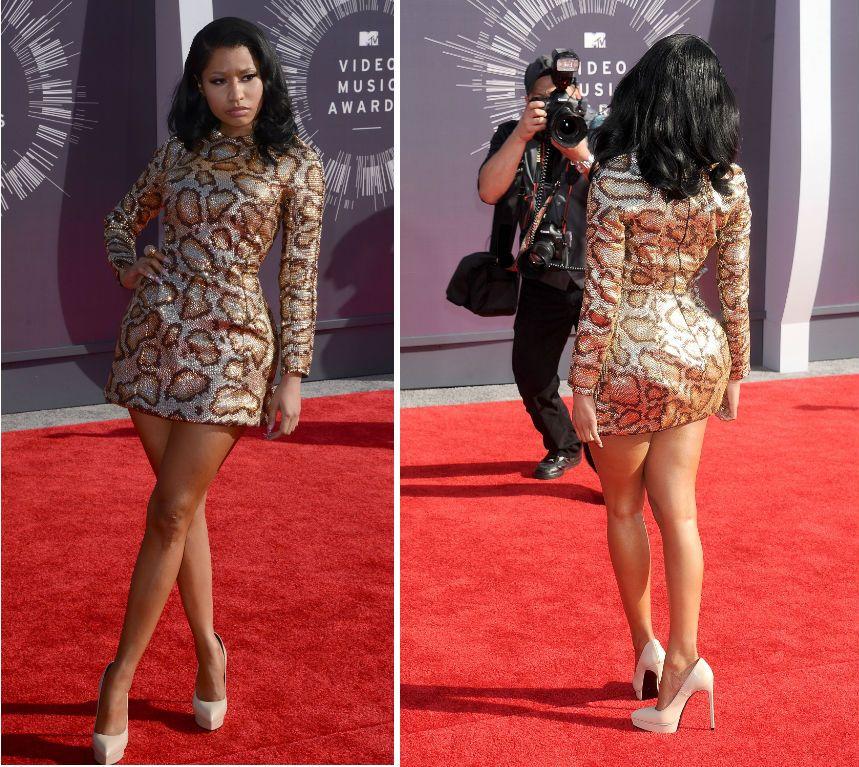 Nicki Minaj Wears See Through Tights Nicki minaj getty images
