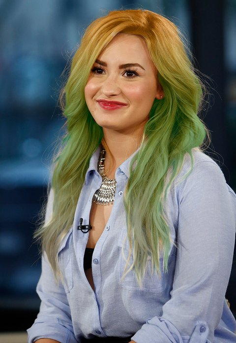 What Color Did Demi Lovato Dye Her Hair Last Night? - MTV