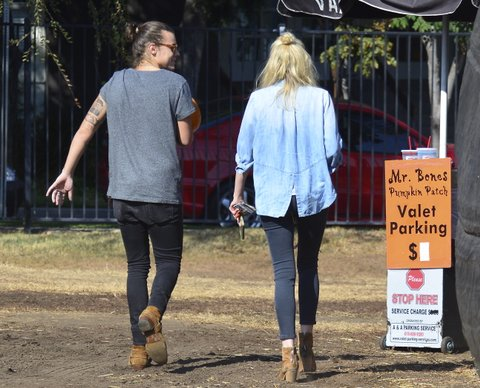Harry Styles Goes Pumpkin Picking With His Man Bun