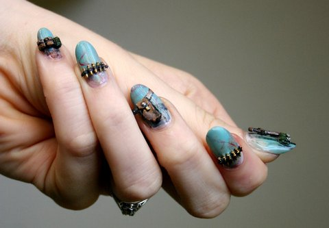 Commando Nail Art