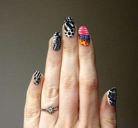 African print nail art
