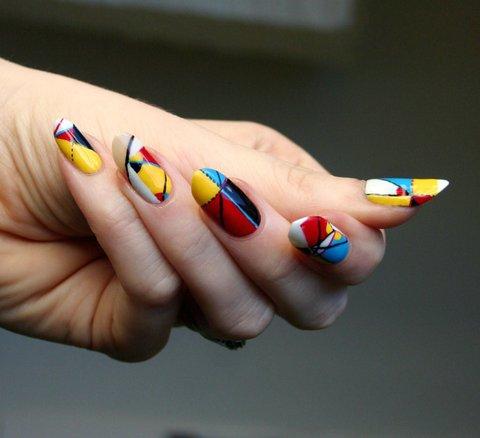 Oliver Byrne inspired nail art