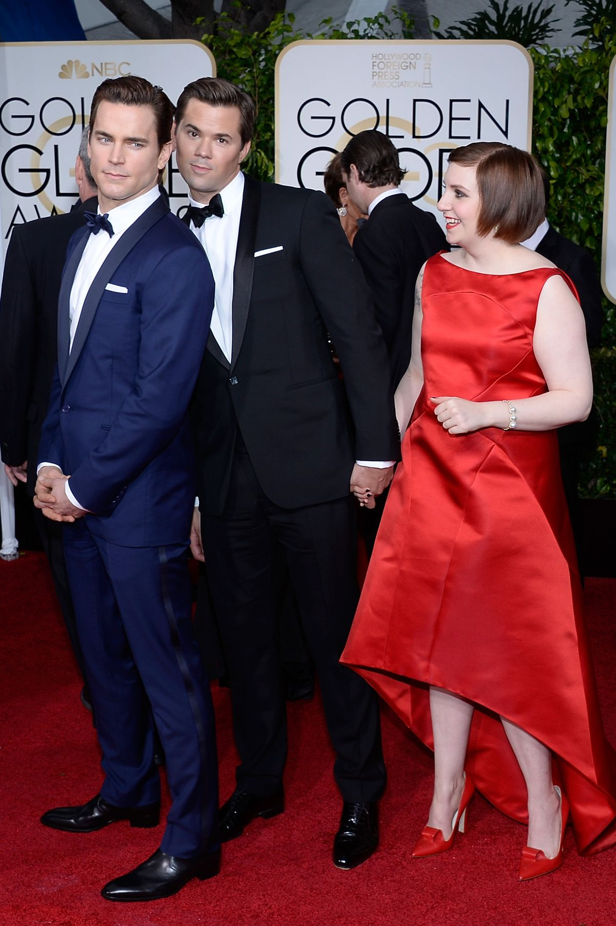 Lena Dunham and Andrew Rennells at 2015 Golden Globes