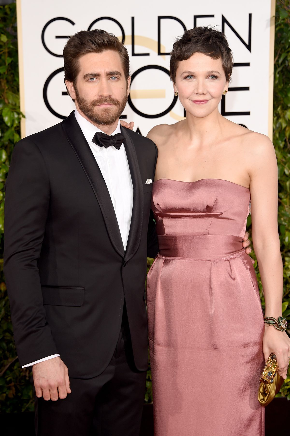 Maggie and Jake Gyllenhaal at 2015 Golden Globes