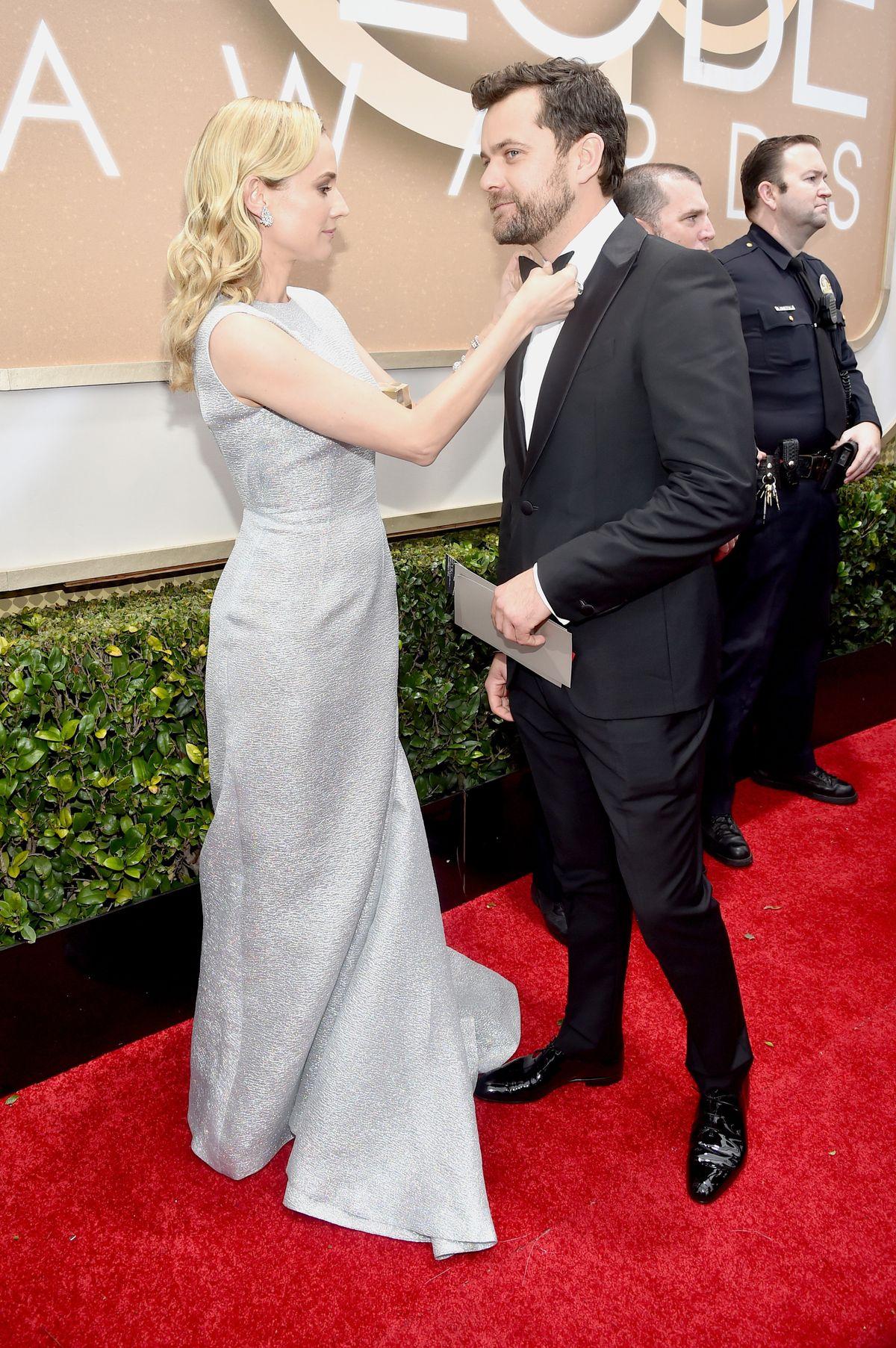 Joshua Jackson and Diane  Kruger at 2015 Golden Globes