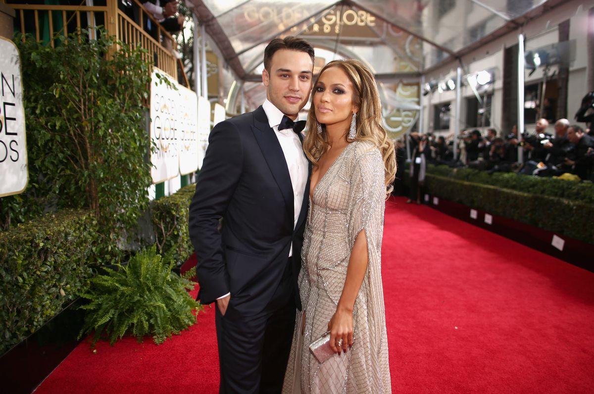 Jennifer Lopez and Ryan Guzman at 2015 Golden Globes