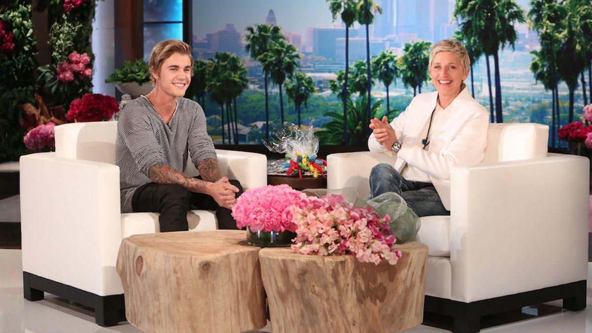 Justin Bieber Ellen DeGeneres