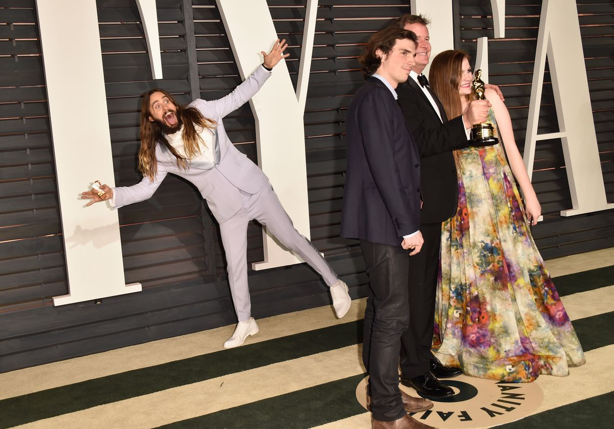 14 Pictures Proving That Jared Leto Had More Fun Than Anyone On Oscar Night Letoexcited-1424700285.jpg?quality=0