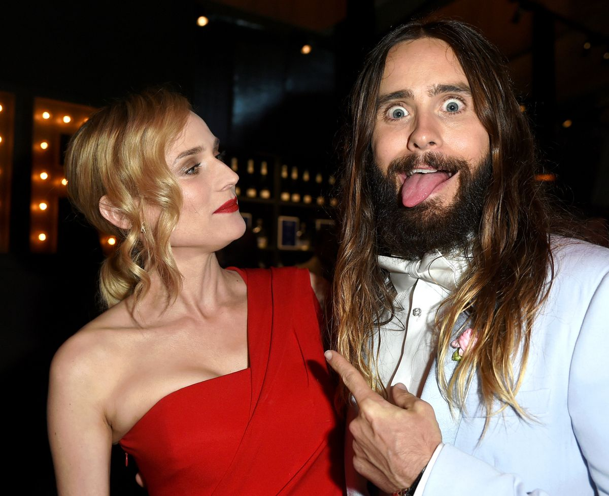 14 Pictures Proving That Jared Leto Had More Fun Than Anyone On Oscar Night Letokruger-1424700300.jpg?quality=0
