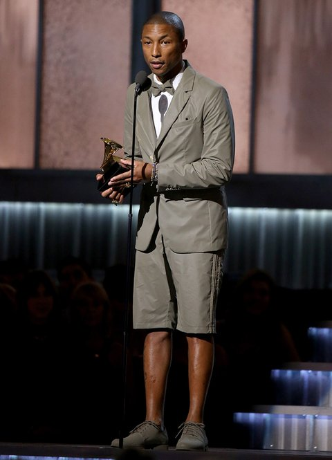Pharrell Ditches Arby Hat, Dons Adidas 3M Reflective Suit ...