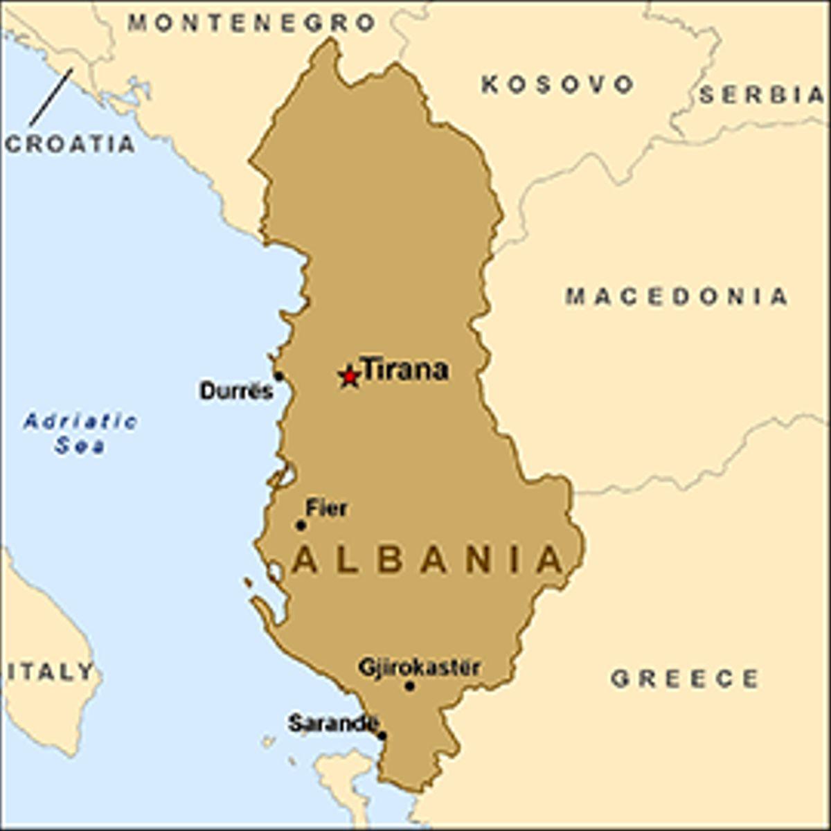 map-albania