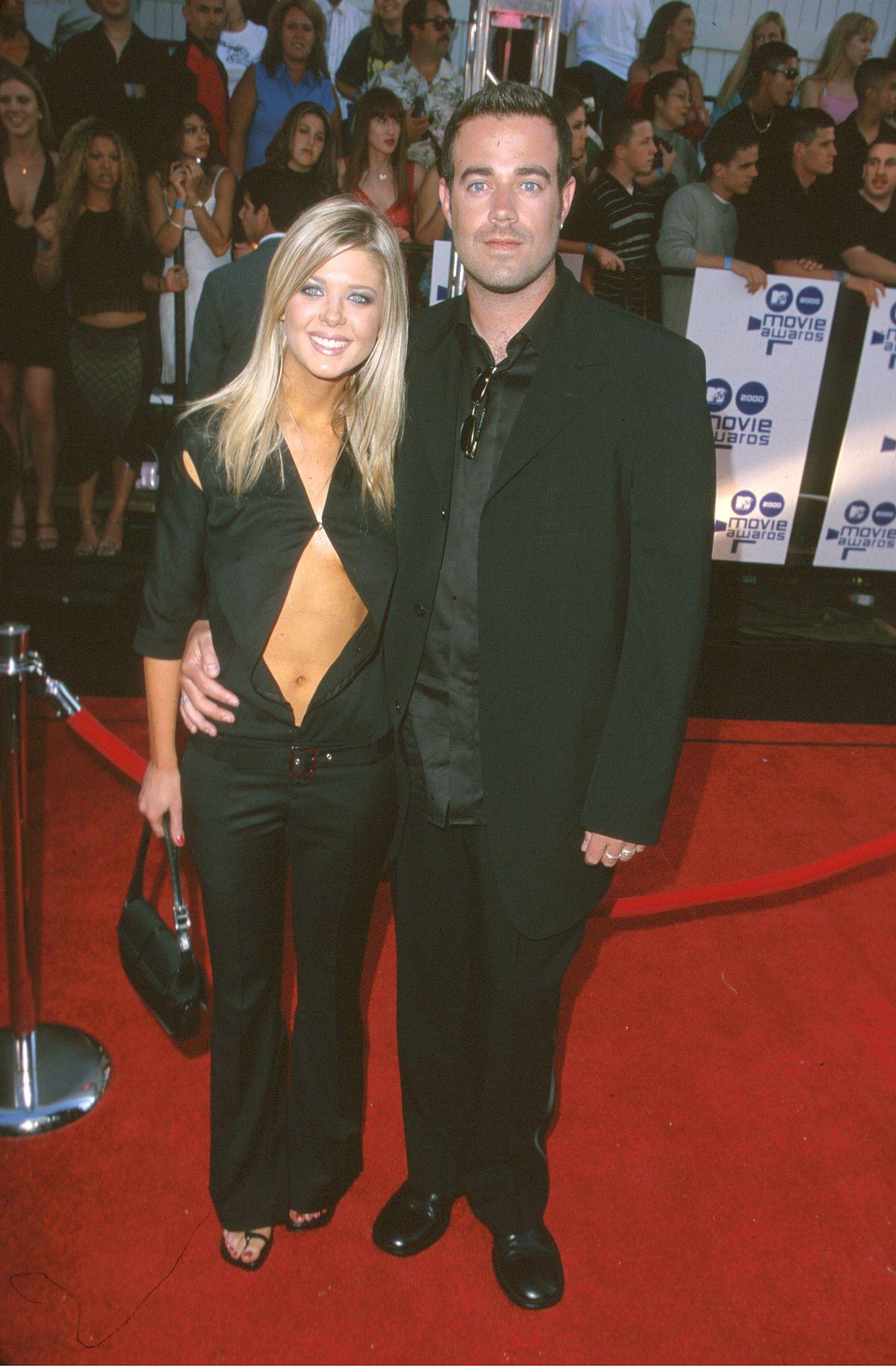 Tara Reid and Carson Daly