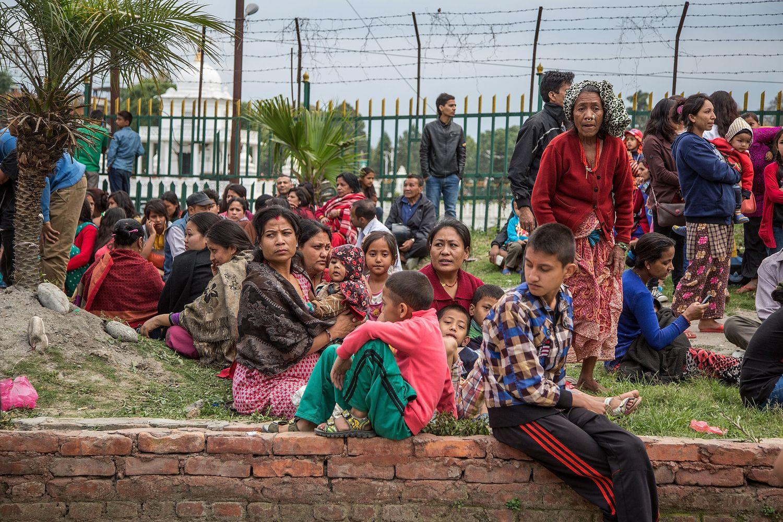<> on April 25, 2015 in Kathmandu, Nepal.
