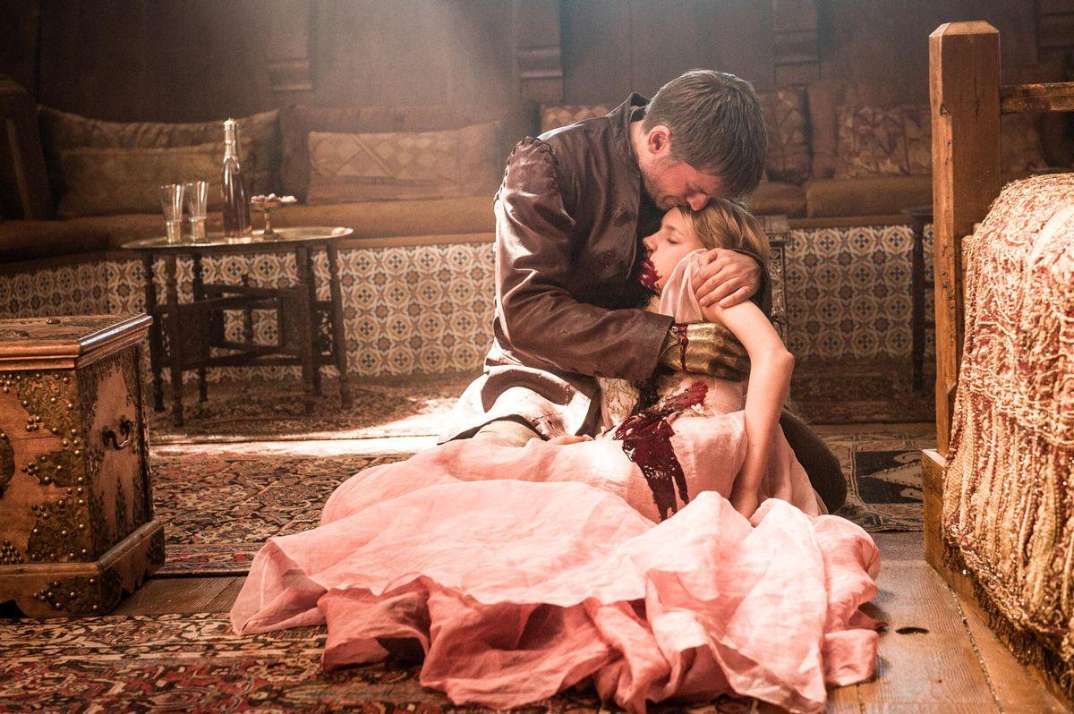 Nikolaj Coster-Waldau as Jaime Lannister, Nell Tiger Free as Myrcella Baratheon