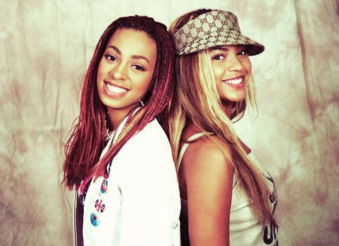 Beyonce and Solange Knowles Portrait