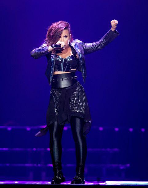 Demi Lovato, Christina Perri And MKTO Perform At The Staples Center