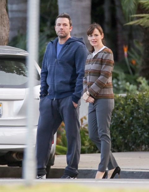 LOS ANGELES, CA - JANUARY 08: Ben Affleck and Jennifer Garner are seen on January 08, 2015 in Los Angeles, California.  (Photo by Bauer-Griffin/GC Images)