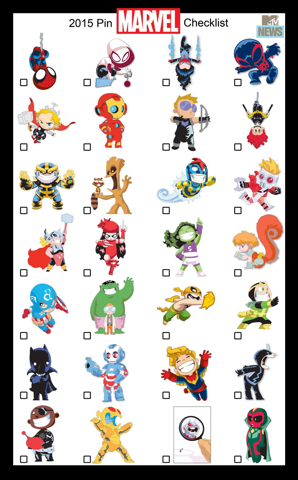 SDCC Exclusive Marvel Collector Pins By Skottie Young Revealed