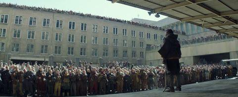 Mockingjay Part 2 Trailer Rebellion Crowd Frame