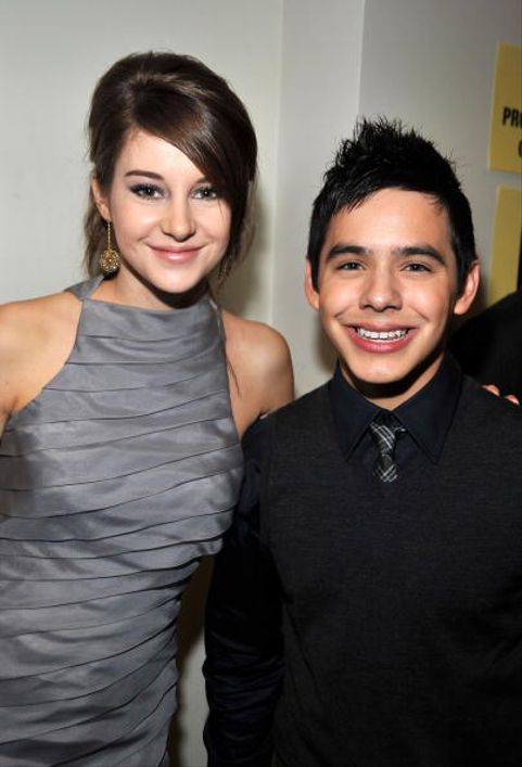 LOS ANGELES, CA - NOVEMBER 23:  ***EXCLUSIVE*** Actress Shailene Woodley (L) and singer David Archuleta pose backstage at the 2008 American Music Awards held at Nokia Theatre L.A. LIVE on November 23, 2008 in Los Angeles, California.  (Photo by Frazer Harrison/Getty Images for AMA)