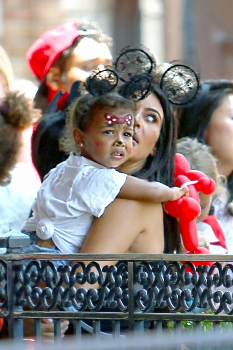 Pregnant Kim Kardashian and family celebrate North's birthday at Disneyland