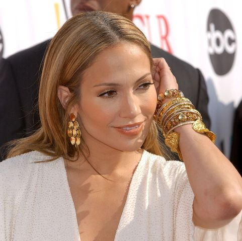 Jennifer Lopez during 2006 NCLR ALMA Awards - Arrivals at Shrine Auditorium in Los Angeles, California, United States. (Photo by Gregg DeGuire/WireImage)