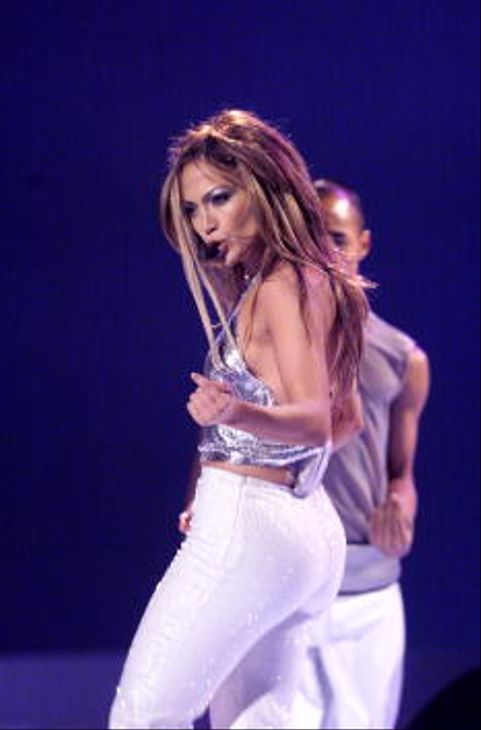 Jennifer Lopez performing at the '1999 VH1/Vogue Fashion Awards' at The Armory in New York City.  (Photo by Scott Gries/ImageDirect)
