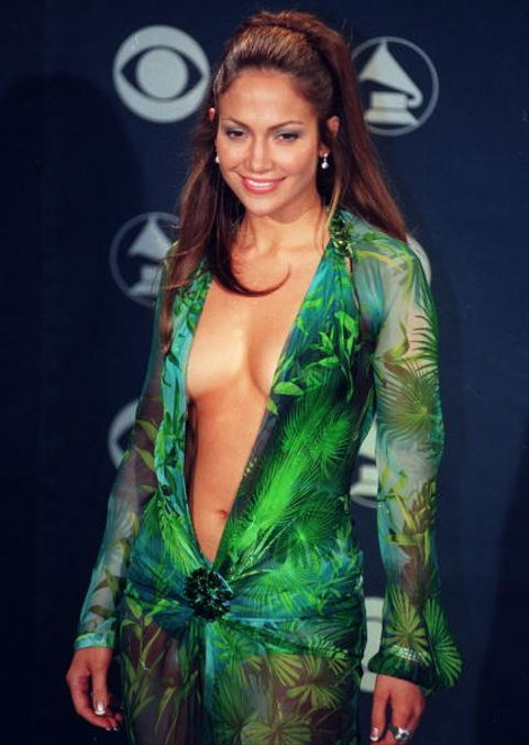 Jennifer Lopez at the 42nd Grammy Awards at the Staples Center on Feb. 23, 2000 in Los Angeles, Calif. at the Staples Center in Los Angeles, CA (Photo by Kirby Lee/WireImage)