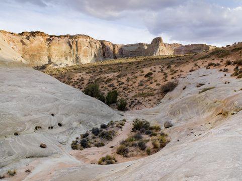 Cliffs And A Desert Landscape