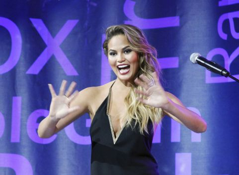 NEW YORK, NY - JULY 13: Chrissie Teigen appears during the Lip Sync Battle Live at Central Park SummerStage on July 13, 2015 in New York City.  (Photo by Donna Ward/WireImage)