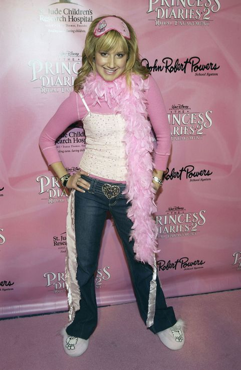 Ashley Tisdale Pink Boa