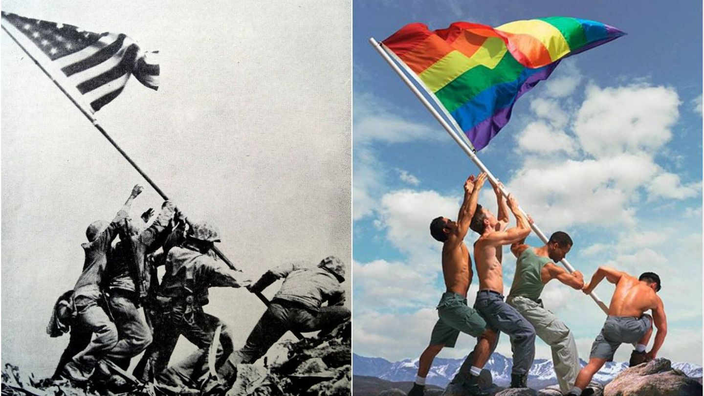 This Gay Pride Adaptation Of An Iconic War Photo Has Sparked A