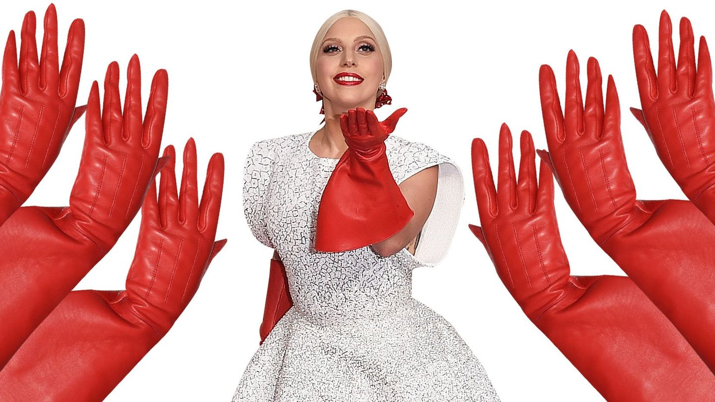 Lady Gaga Celebrates 4 Month Anniversary Of 2015 Oscars, Wears Those Crazy  Red Gloves Again - MTV