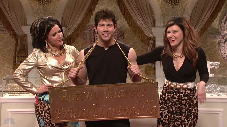 Nick Jonas And Julia Louis Dreyfus Get Close On Saturday Night