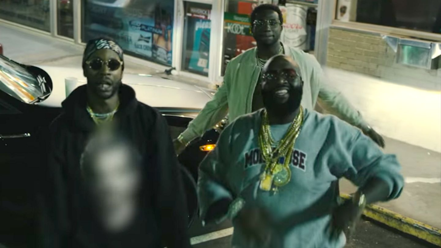 8238efe9a28 Rick Ross, 2 Chainz, And Gucci Mane Are Property Investment Gurus In New  Video - MTV