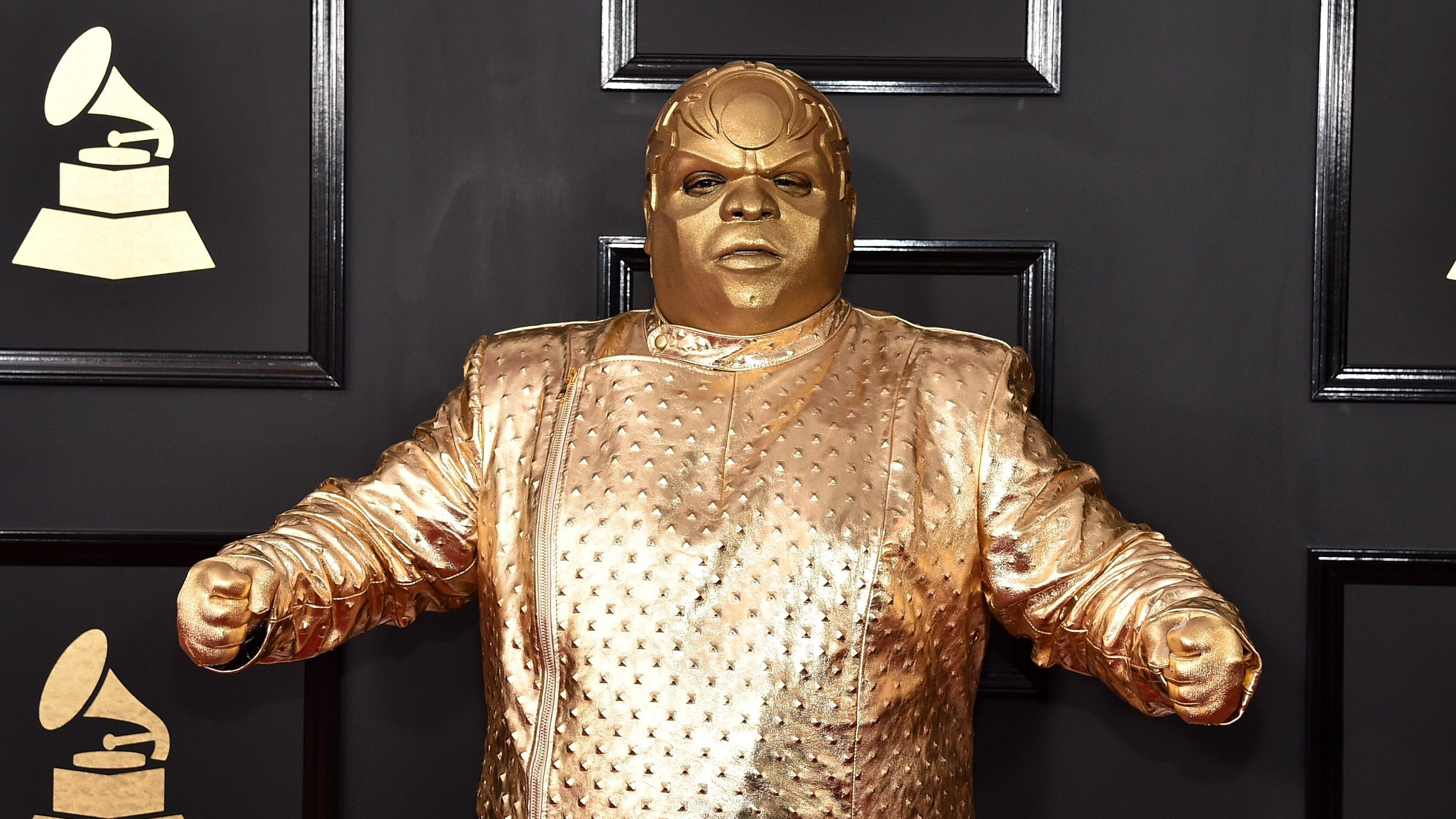 A Robot Version Of Cee Lo Green Dipped Himself In Gold For The Grammys Mtv