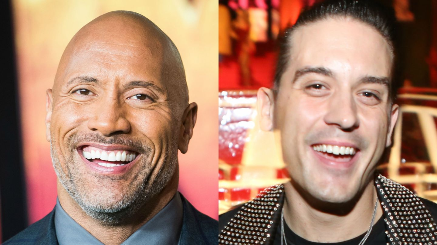 The Rock And G-Eazy Are Both New Friends And Good At Eyebrows