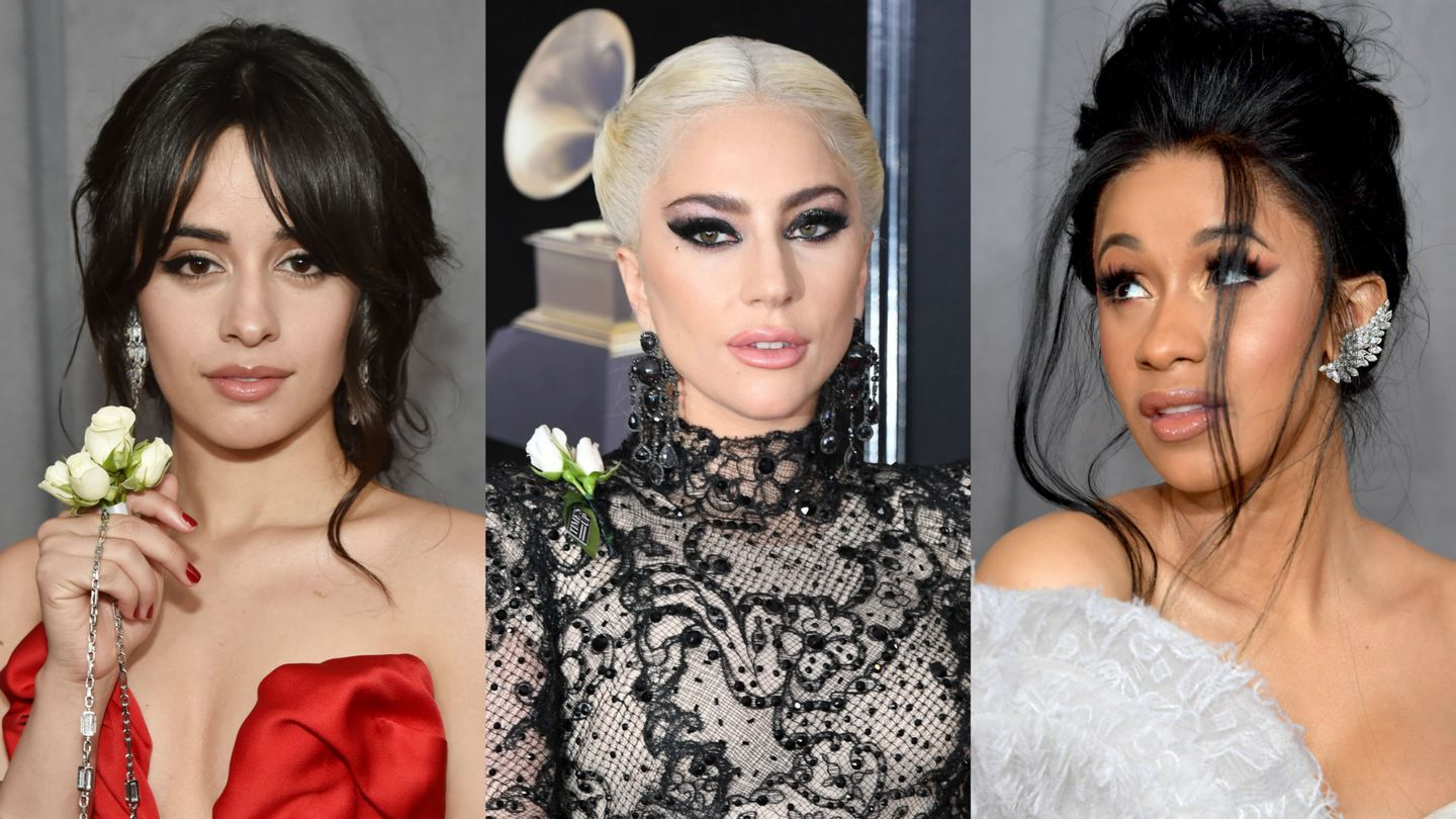 Lady Gaga, Camila Cabello, And More Rock White Roses On The 2018 Grammys Red Carpet
